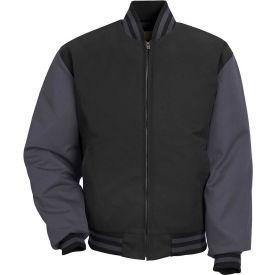 Red Kap® Duo-Tone Team Jacket Long-XL Black/Charcoal JT40