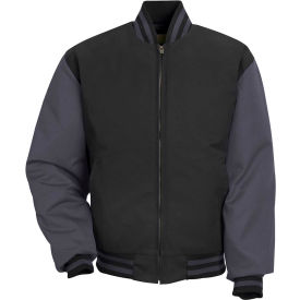 Red Kap® Duo-Tone Team Jacket Regular-3XL Black/Charcoal JT40