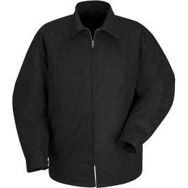 Red Kap® Perma-Lined Panel Jacket Long-XL Black JT50