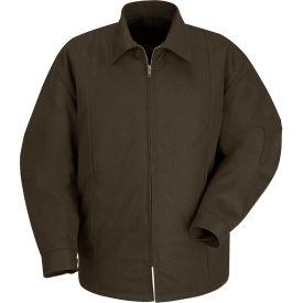 Red Kap® Perma-Lined Panel Jacket Long-L Brown JT50