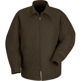 Red Kap® Perma-Lined Panel Jacket Long-2XL Brown JT50