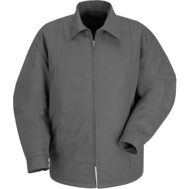 Red Kap® Perma-Lined Panel Jacket Long-3XL Charcoal JT50