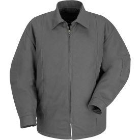 Red Kap® Perma-Lined Panel Jacket Long-M Charcoal JT50