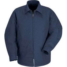 Red Kap® Perma-Lined Panel Jacket Long-M Navy JT50
