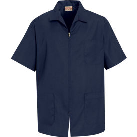 Red Kap® Men's Zip-front Smock Navy S - KP44