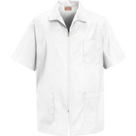 Red Kap® Men's Zip-front Smock White S - KP44