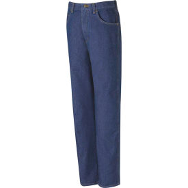 Red Kap® Men's Relaxed Fit Denim Jean 38x34 Indigo PD60