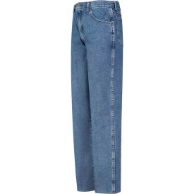 Red Kap® Men's Relaxed Fit Denim Jean 50x37U Stonewash PD60
