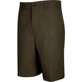 Red Kap® Men's Cotton Casual Plain Front Short Brown 34 X 10 - PT26