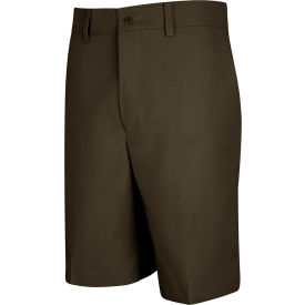 Red Kap® Men's Cotton Casual Plain Front Short Brown 38 X 10 - PT26