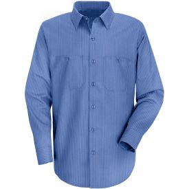 Red Kap® Men's Industrial Stripe Work Shirt Long Sleeve Petrol Blue/Navy Stripe Long-2XL SB12