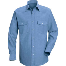 Red Kap® Men's Deluxe Western Style Shirt Regular-XL SC14-SC14LBRGXL