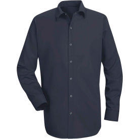 Red Kap® Men's Specialized Cotton Work Shirt Long Sleeve Regular-2XL Navy SC16-SC16NVRGXXL