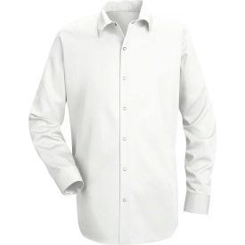Red Kap® Men's Specialized Cotton Work Shirt Long Sleeve Long-2XL White SC16-SC16WHLNXXL