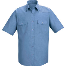 Red Kap® Men's Short Sleeve Deluxe Western Style Shirt Long-XL SC24-SC24LBSSLXL