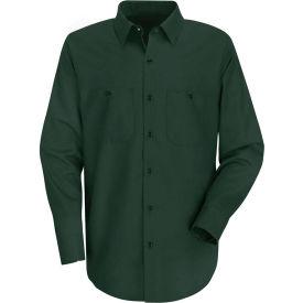 Red Kap® Men's Wrinkle-Resistant Cotton Work Shirt Long Sleeve Long-2XL Spruce Green SC30