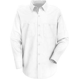 Red Kap® Men's Wrinkle-Resistant Cotton Work Shirt Long Sleeve Long-M White SC30-SC30WHLNM
