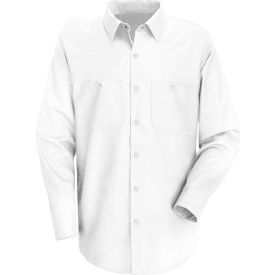 Red Kap® Men's Wrinkle-Resistant Cotton Work Shirt Long Sleeve Regular-S White SC30-SC30WHRGS
