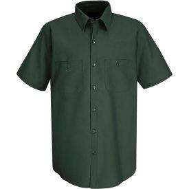 Red Kap® Men's Wrinkle-Resistant Cotton Work Shirt Short Sleeve L Spruce Green SC40-SC40SGSSL