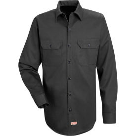 Red Kap® Men's Deluxe Heavyweight Cotton Shirt Long Sleeve Long-2XL Charcoal SC70-SC70CHLNXXL