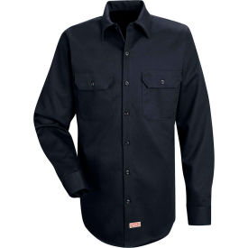 Red Kap® Men's Deluxe Heavyweight Cotton Shirt Long Sleeve Regular-L Dark Navy SC70-SC70DNRGL