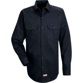 Red Kap® Men's Deluxe Heavyweight Cotton Shirt Long Sleeve Regular-S Dark Navy SC70-SC70DNRGS
