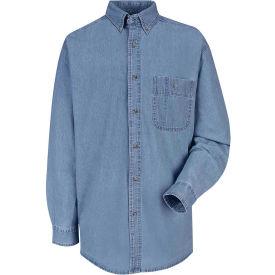 Red Kap® Men's Wrangler Denim Shirt Regular-3XL SD10-SD10MSRG3XL