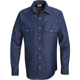 Red Kap® Men's Deluxe Denim Shirt Long-2XL SD78-SD78DNLNXXL