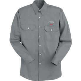 Red Kap® Men's Heathered Poplin Uniform Shirt Long Sleeve Charcoal Regular-M SH10-SH10CHRGM