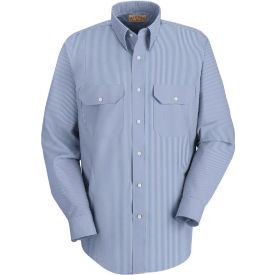 Red Kap® Men's Deluxe Uniform Shirt White/Blue Pin Stripe Long-L SL50-SL50WBLNL