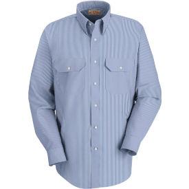 Red Kap® Men's Deluxe Uniform Shirt White/Blue Pin Stripe Long-2XL SL50-SL50WBLNXXL