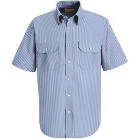 Red Kap® Men's Deluxe Short Sleeve Uniform Shirt White/Blue Pin Stripe SL60-SL60WBSS5XL