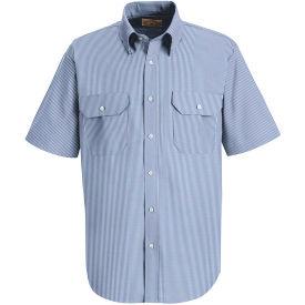 Red Kap® Men's Deluxe Short Sleeve Uniform Shirt White/Blue Pin Stripe SL60-SL60WBSSL4XL
