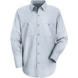 Red Kap® Men's Industrial Stripe Work Shirt Long Sleeve Light Blue/Navy Stripe Long-2XL SP10
