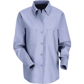 Red Kap® Women's Industrial Work Shirt Long Sleeve Light Blue Regular-S SP13