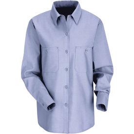 Red Kap® Women's Industrial Work Shirt Long Sleeve Light Blue Regular-2XL SP13