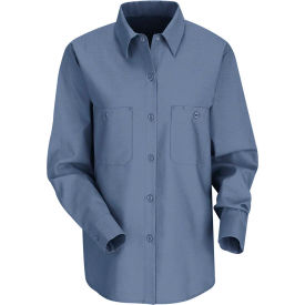 Red Kap® Women's Industrial Work Shirt Long Sleeve Petrol Blue Regular-M SP13