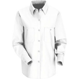Red Kap® Women's Industrial Work Shirt Long Sleeve White Regular-M SP13