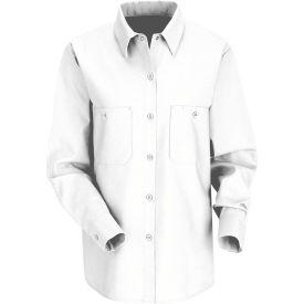 Red Kap® Women's Industrial Work Shirt Long Sleeve White Regular-2XL SP13