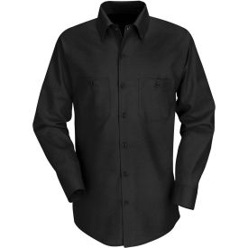 Red Kap® Men's Industrial Work Shirt Long Sleeve Black Long-XL SP14