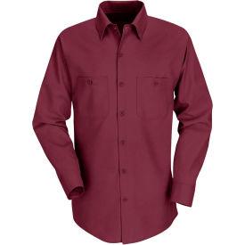 Red Kap® Men's Industrial Work Shirt Long Sleeve Burgundy Regular-L SP14