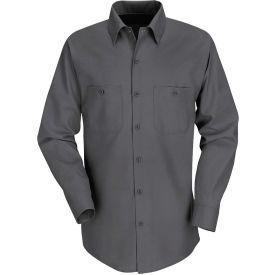 Red Kap® Men's Industrial Work Shirt Long Sleeve Charcoal Long-XL SP14
