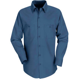 Red Kap® Men's Industrial Work Shirt Long Sleeve Dark Blue Long-2XL SP14