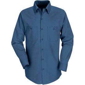 Red Kap® Men's Industrial Work Shirt Long Sleeve Dark Blue Regular-3XL SP14