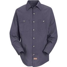 Red Kap® Men's Geometric Micro-Check Work Shirt Blue/Charcoal Microcheck Long-2XL SP14
