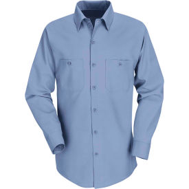 Red Kap® Men's Industrial Work Shirt Long Sleeve Light Blue Regular-3XL SP14