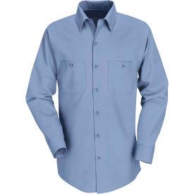 Red Kap® Men's Industrial Work Shirt Long Sleeve Light Blue Regular-M SP14
