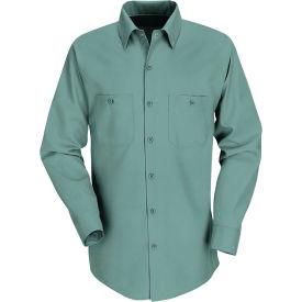 Red Kap® Men's Industrial Work Shirt Long Sleeve Light Green Long-3XL SP14