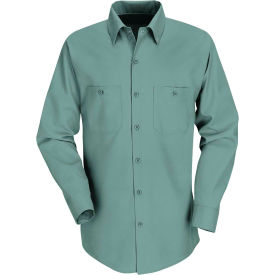 Red Kap® Men's Industrial Work Shirt Long Sleeve Light Green Regular-L SP14
