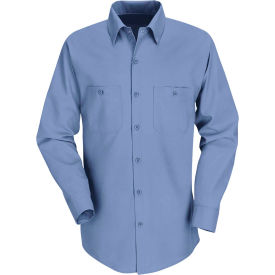 Red Kap® Men's Industrial Work Shirt Long Sleeve Petrol Blue Regular-S SP14